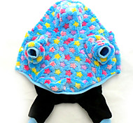 Dog Hoodie / Pajamas Blue / Purple Dog Clothes Winter / Spring/Fall Stars Cute / Casual/Daily