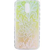 For Motorola Moto G4 Plus Case Cover Gradient Flower Pattern Back Cover Soft TPU G4
