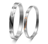 Couple's Cuff Bracelet Steel Friendship Fashion Personalized Jewelry 1 pair 2pcs