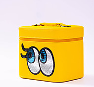 Makeup Storage Cosmetic Bag / Makeup Storage PU Solid 23*17*19 Yellow