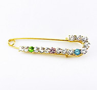 Korean High-grade Full Diamond Bear Sweater Pin Brooch Brooch Female Peacock Shawl Scarf Buckle and Buckle