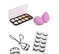10 Concealer/ContourEyelash Curler / Powder Puff/Beauty Blender / Makeup Brushes Wet FaceExtended / Lifted lashes / Volumized / Concealer