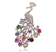 Women's Fashion Alloy/Rhinestone Peacock Brooches Pin Party/Daily Scarf Clips Jewelry Accessory 1pc