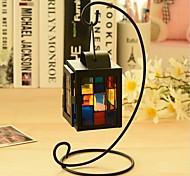 color de la casa del metal adornos de hierro candelabro de muebles para el hogar con velas romántica cena a la luz de la lámpara
