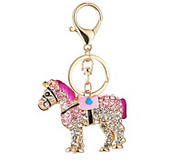 The New Horse Hot Fashion Handbag Purse Key Chain Ma Car Set Auger Key Ring Clasp Pendant Gift