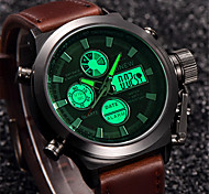 New Men Watch Dual Time Zone Alarm LCD Sport Watch Mens Quartz Wristwatch Silicone Waterproof Dive Sports Digital Watches