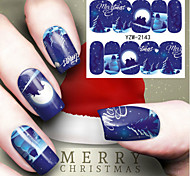 Five Is A Set Of Nail Decals Patch Winter Christmas Style