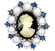 Women's Fashion Retro Alloy/Rhinestone/Pearl Flower Brooches Pin Party/Daily/Wedding Jewelry Accessory 1pc