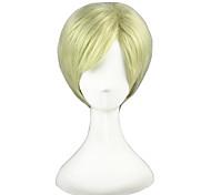 Косплэй парики Готика Alice Margatroid Золотистый Короткие платья Аниме Косплэй парики 30 CM Термостойкое волокно унисекс