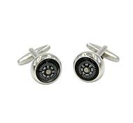 gemelli 2pcs, blocco di colore argento gemello moda gioielli da uomo