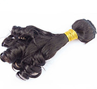 Tejidos Humanos Cabello Cabello Brasileño Rizado 12 meses 1 Pieza los tejidos de pelo