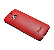 For HTC Case Flip Case Full Body Case Solid Color Hard PU Leather HTC