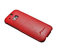 Для Кейс для HTC Флип Кейс для Чехол Кейс для Один цвет Твердый Искусственная кожа HTC