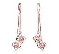 Boucles d'oreille goutte Bijoux Zircon Plaqué Or Rose Rouge Rose Bijoux Décontracté 1 paire
