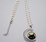 Женский Ожерелья с подвесками Драгоценный камень Стерлинговое серебро Бижутерия Базовый дизайн Черный Бижутерия Повседневные 1шт