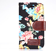 For Samsung Galaxy Alpha Ace Style LTE Case Cover Flowers PU Leather Mobile Phone Holster
