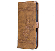 For iPhone 7Plus 7 6Plus 6S 6 SE 5s 5 PU Leather Material High-Grade Retro Wax Pattern Embossing Phone Case