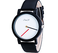 Men's / Women's Wrist watch Quartz PU Band Black / White Brand