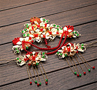 Classic/Traditional Headwear Vintage Inspired Golden For Women Alloy Spring Festival/New Year 1set Hairpin