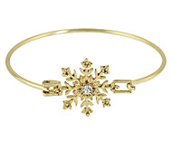 Fashion Gold Plated Rhinestone Snowflake Shape Thin Bracelet