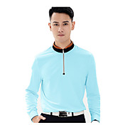 Sports Men's Golf Tops Breathable White Blue Orange Golf Running M L XL XXL