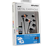 Awei-Q3i High Quality Hi-Fi 3.5mm In-Ear Earphones for MIC for iphone6/6plus