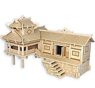 Пазлы Деревянные пазлы Строительные блоки DIY игрушки Китайская архитектура Лошадь 1 Дерево Со стразами Модели и конструкторы