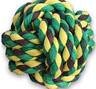 Cat Toy Dog Toy Pet Toys Ball Rope Durable Green Rubber
