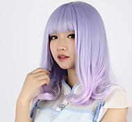 Sweet Lolita Color Gradient Curly Light Purple Lolita Wig 40cm CM Cosplay Wigs Wig For Women