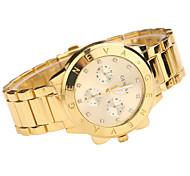 Men's Wrist watch Quartz Alloy Band Casual Silver Brand