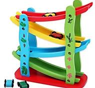 Building Blocks / Pull Back Car/Inertia Car Novelty Toy Toys Novelty Car Wood Rainbow For Boys / For Girls