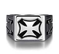 Ring Jewelry Steel Cross Punk Silver Jewelry Casual 1pc