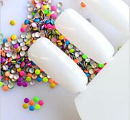 1000Pcs/Pack 2X2Mm Fluorescent Nail Art Round Tiny Rivet Studs For Nails Sticker New Mixed Colors Rhinestones Nail Art Decorations
