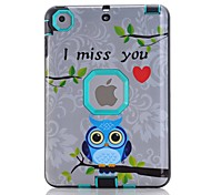 Owl Pattern Colour Printing Water/Dirt/Shock Proof Waterproof Three in One IMD Cover Case for iPad mini 1/2/3