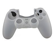 Силиконовый чехол протектор и 2 Стик Захваты для PS4 Controller (белый)