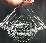 Chef Basket Foldable Steam Rinse Strain Fry Poach Boil Basket Strainer Net