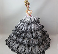 Party/Evening Dresses For Barbie Doll Black / Sky Blue Dresses For Girl's Doll Toy