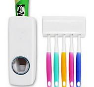 Автоматический дозатор зубная паста ж / держатель зубной щетки