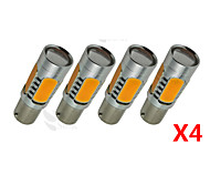 4X yellow High Power BAU15S 1156PY 7.5W Tail Brake Signal LED Light bulbs 7507