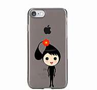For Transparent Pattern Case Back Cover Case Cartoon Baby Soft TPU for IPhone 7 7Plus iPhone 6s 6 Plus iPhone 6s 6 iPhone 5s 5 5E 5C