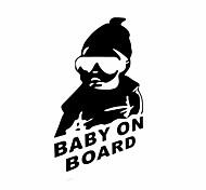 bebé divertido a bordo etiqueta engomada del coche ventana del coche estilo pared coche calcomanía