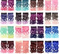фантастический клип в наращивание волос волнистый шиньон синтетические много цветов для костюмированный бал в Хэллоуин