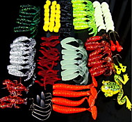 "129 pcs Soft Bait Fishing Lures Soft Bait g/Ounce mm/4"" inch,Soft Plastic PE Bait Casting General Fishing"