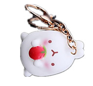 Key Chain Rabbit Key Chain Red Metal
