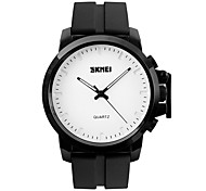Hombre Reloj de Vestir / Reloj de Moda / Reloj de Pulsera Cuarzo Resistente al Agua / Esfera Grande Silicona Banda Cool Negro Marca