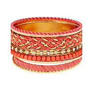 Women's Wrap Bracelet Alloy Simulated Diamond Punk White Black Red Green Jewelry 1pc