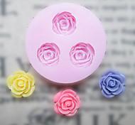 DIY три отверстия Цветок силиконовые формы Фондант Пресс-формы Сахар Craft Инструменты Смола цветы Плесень пресс-формы для тортов