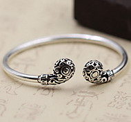 Bracelet Bangles Cuff Bracelet Sterling Silver Others Fashion Vintage Birthday Gift Party Christmas Gifts Jewelry Gift Silver,1pc