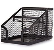 Sunwood®  1222 Metal Multifunctional Office Pen Container Black