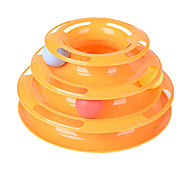 Cat Toy Pet Toys Interactive Durable Yellow Plastic